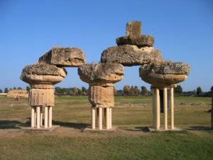 Базиликата_Parco archeologico di Metaponto.Le rovine